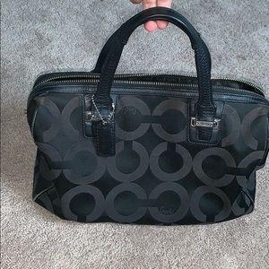 black coach tote/handbag purse